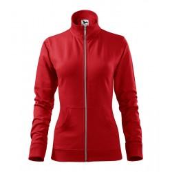 Piros női állónyakú pulóver...