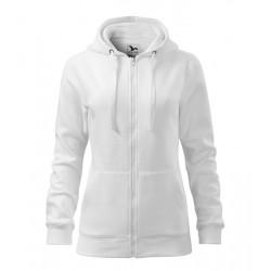 Fehér női kapucnis pulóver