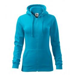 Türkiz női kapucnis pulóver