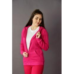 Pink női kapucnis pulóver