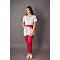 Gumis derekú női nadrág